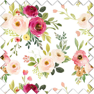 Franny's Farmhouse Floral Fabric Swatch