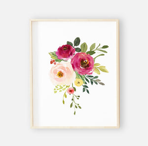 Franny's Farmhouse Floral Digital Wall Art