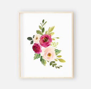Franny's Farmhouse Floral Digital Nursery Wall Art