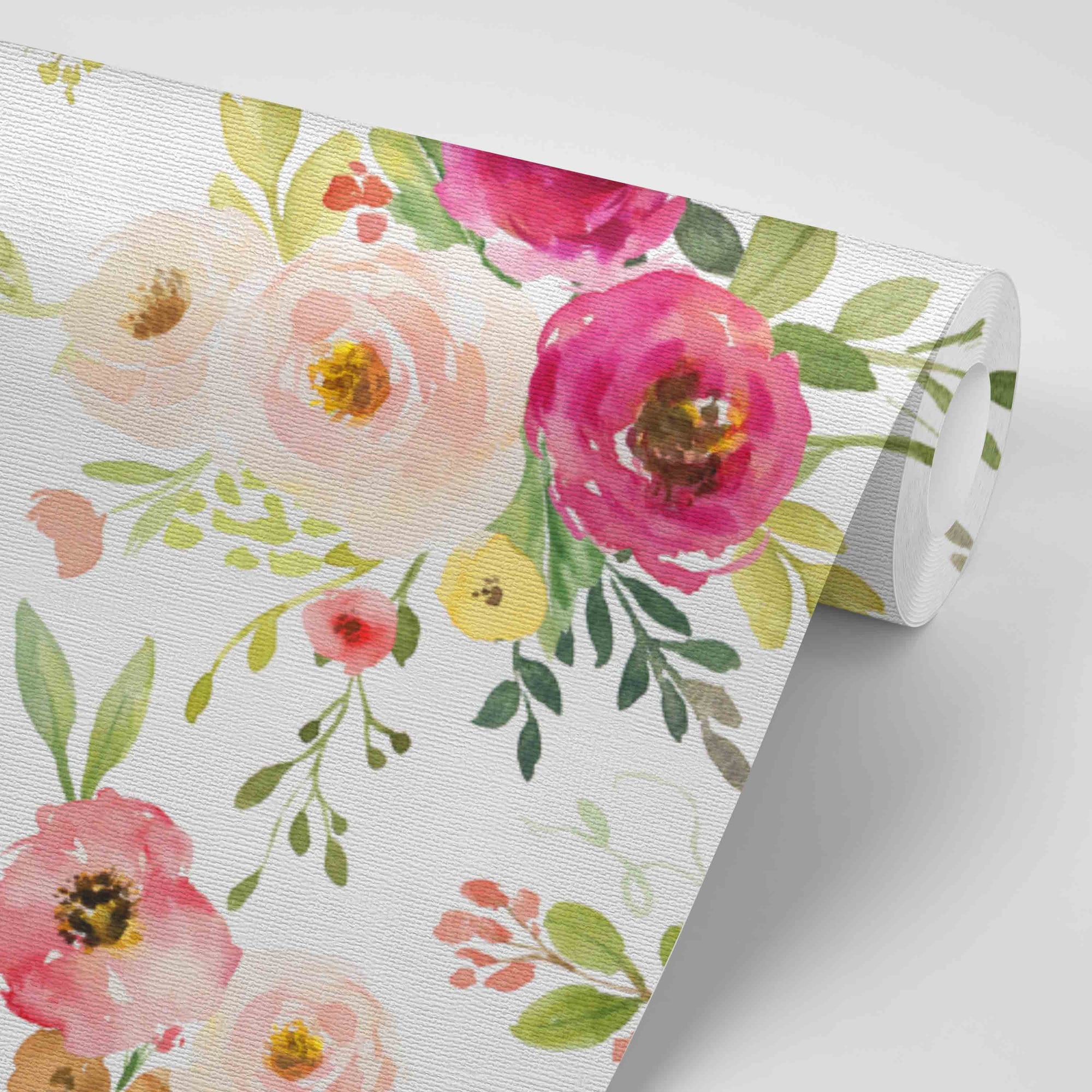 Franny S Farmhouse Floral Removable Wallpaper Caden Lane