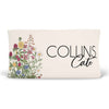 garden vintage floral changing pad cover with baby's name