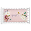 butterfly personalized crib sheet