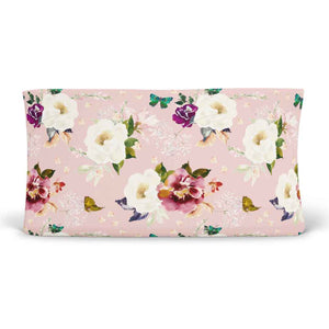 harper butterfly floral changing pad cover