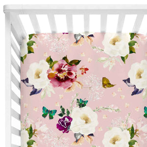 harper's butterfly crib sheet
