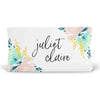Isla's Fresh Floral Mint and Navy Personalized Fitted Changing Pad Cover