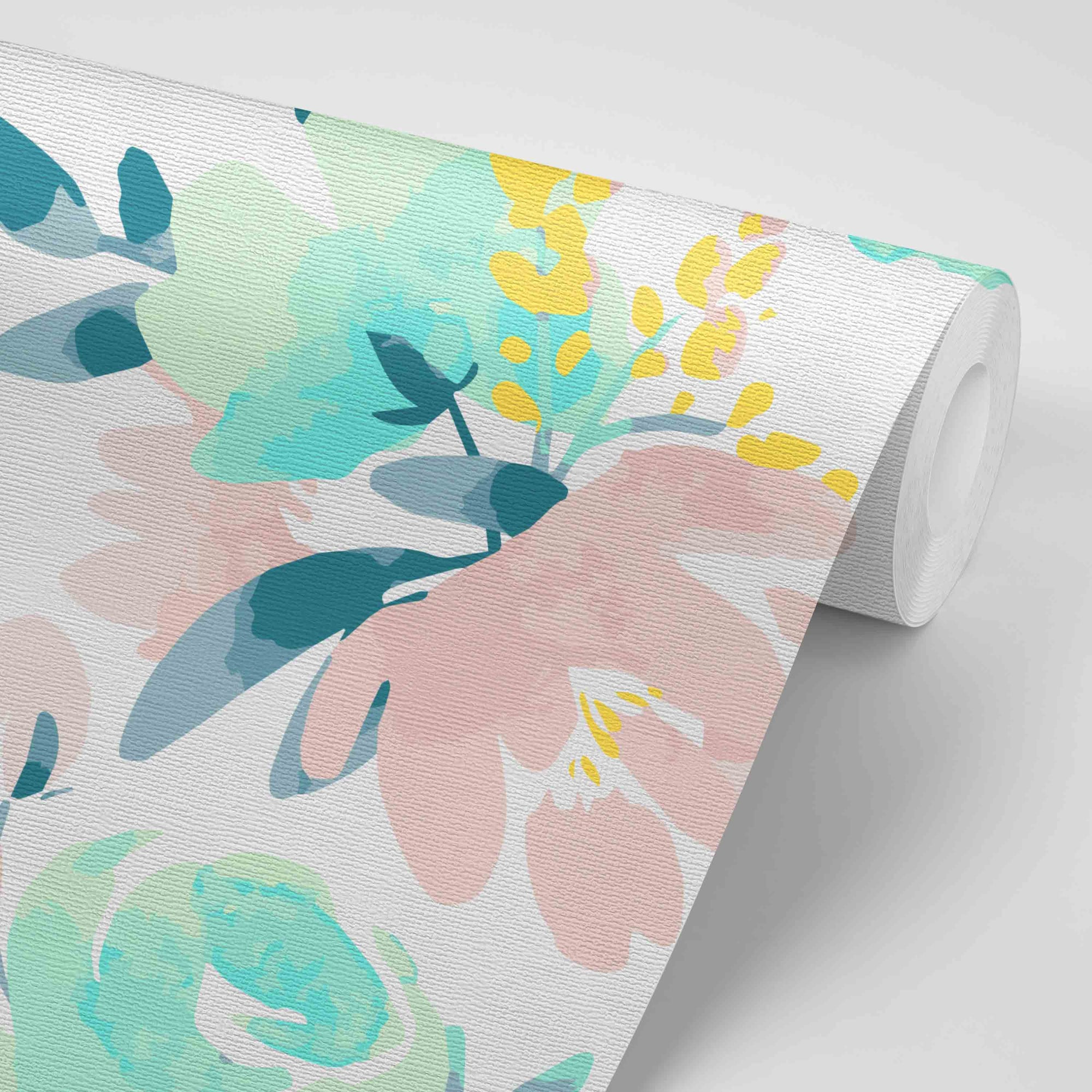 Isla S Fresh Floral Removable Wallpaper Caden Lane