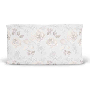 Ivy's Vintage Ivory Floral Changing Pad Cover