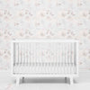 white tone on tone floral wallpaper
