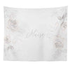 Ivy's Vintage White Floral Personalized Wall Tapestry