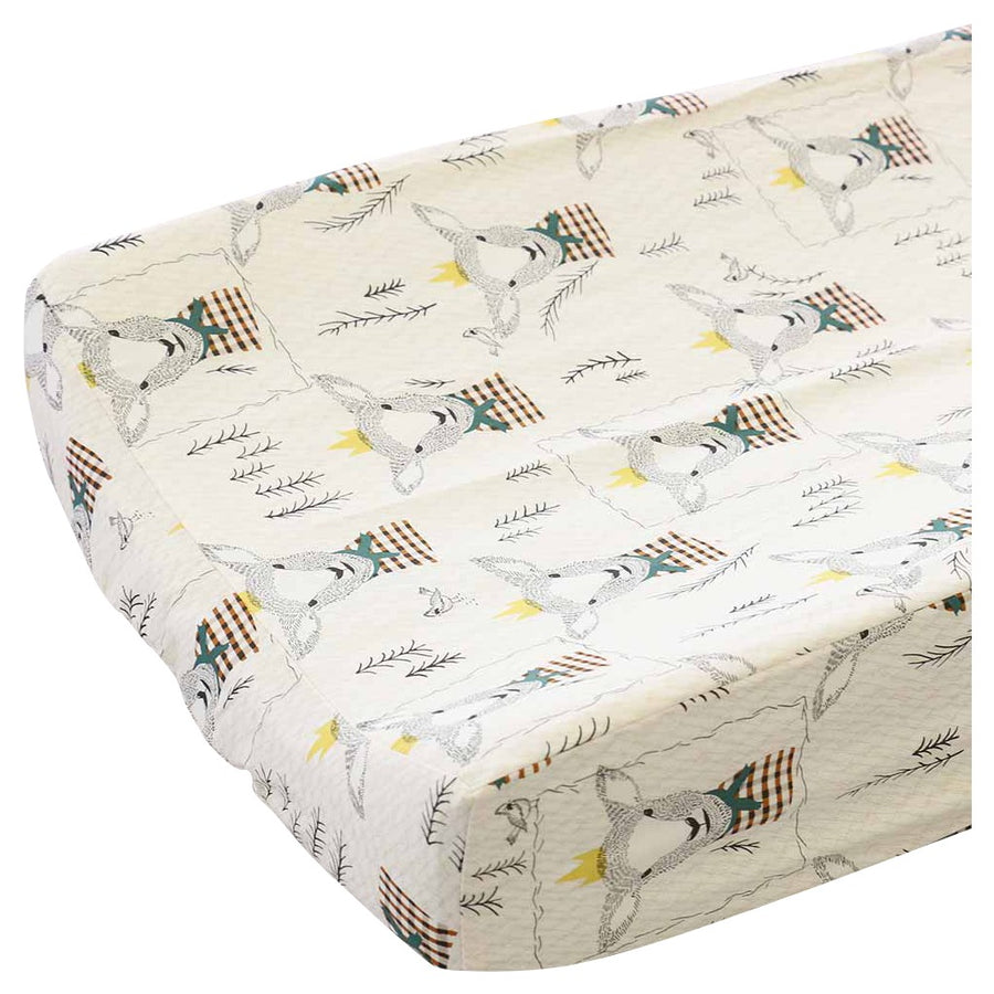 Langston's woodland lamb contoured changing pad cover