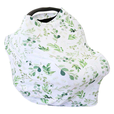 Leafy greenery nature inspired car seat cover