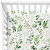 Leafy Greenery Neutral Crib Sheet for Boy or Girl