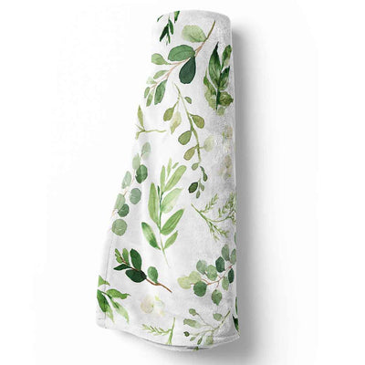 Leafy Greenery Toddler Sized Baby Blanket