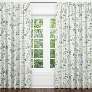 Leafy Greenery Blackout Curtain Panels (Set of 2)