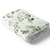 Leafy Greenery Natural Crib Bedding