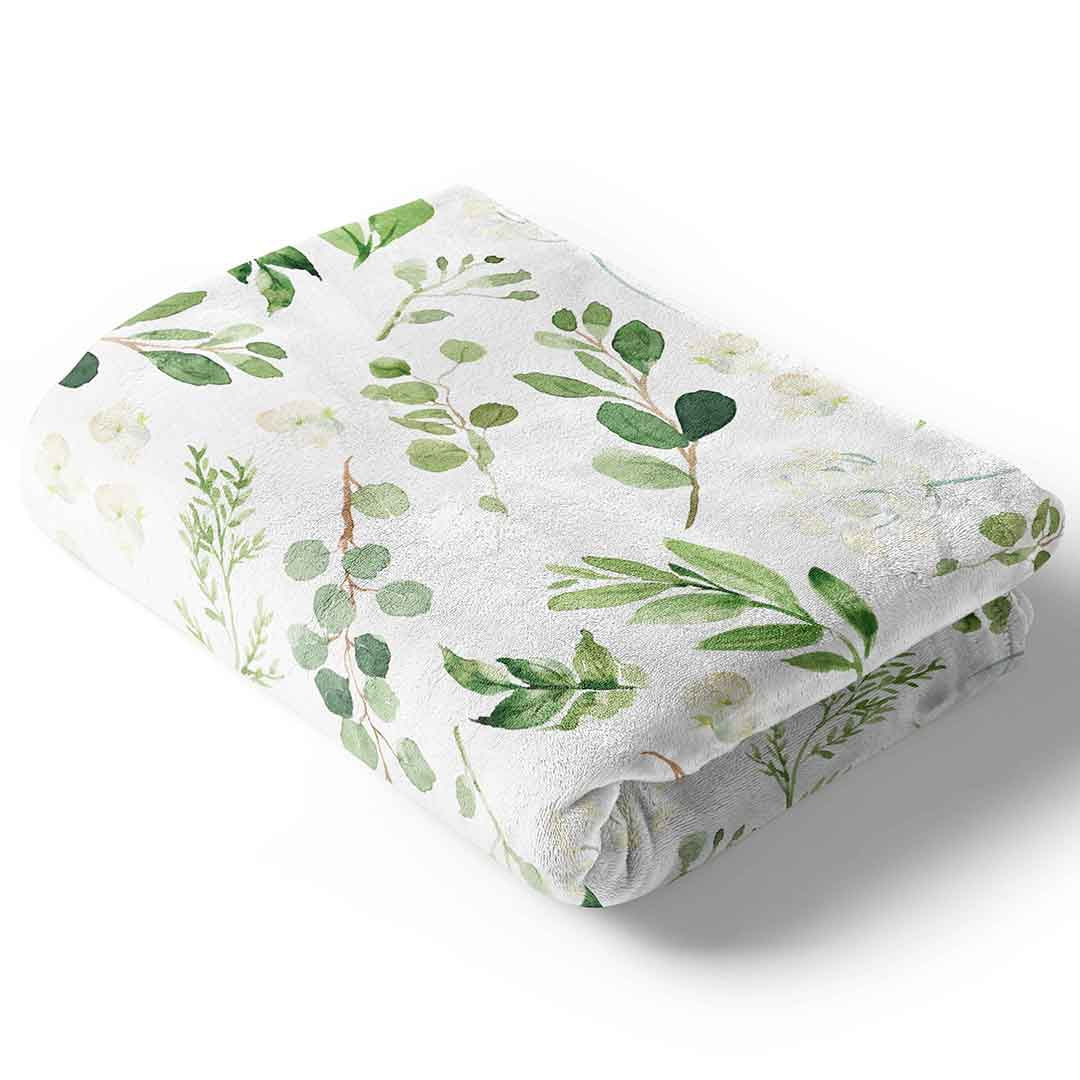 Leafy Greenery Baby And Toddler Blanket Caden Lane