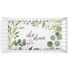 Leafy Greenery Personalized Fitted Crib Sheet