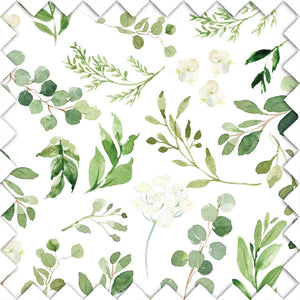 Leafy Gender Neutral Green Nursery Fabric Swatch