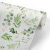 green foliage removable nursery wallpaper