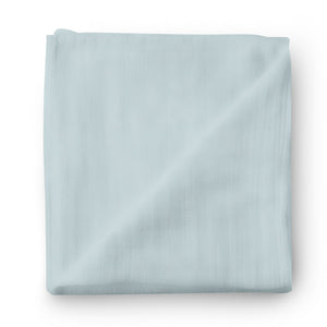 Light Dusty Blue Knit Swaddle Blanket