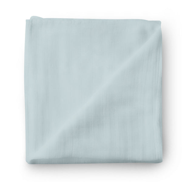 light dusty blue swaddle bamboo