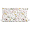 maeve's mauve and mustard floral stretchy knit changing pad cover