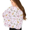 maeve's mauve and mustard floral soft stretchy knit multi-use nursing cover
