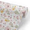 Maeve's Mauve & Mustard Floral Removable Wallpaper