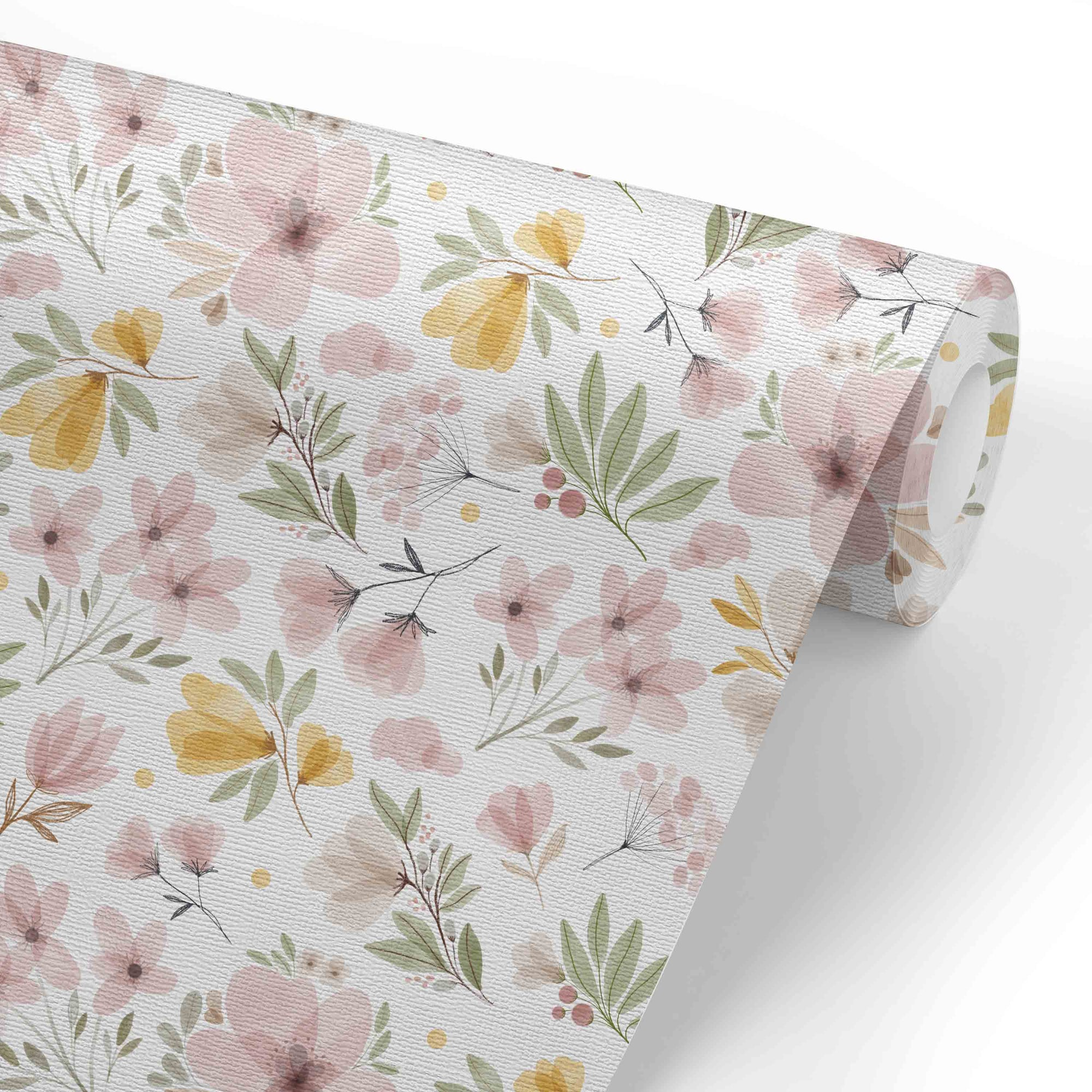 Maeve S Mauve Mustard Floral Removable Wallpaper Caden Lane