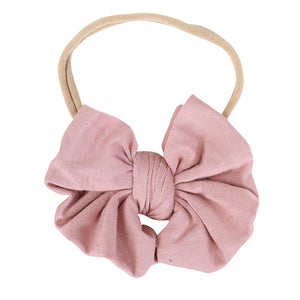 Solid Mauve Knit Bow Headband