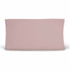 Solid Mauve Knit Changing Pad Cover