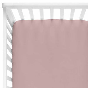 Solid Mauve Knit Crib Sheet