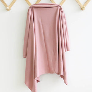 Solid Mauve Knit Swaddle Blanket