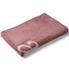 Folded Dusty Rose Color Story Personalized Name Soft Fleece Toddler Throw Blanket