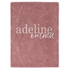 Dusty Rose Color Story Personalized Name Soft Fleece Toddler Throw Blanket