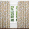 Mila's Mustard Floral Blackout Curtain Panels (Set of 2)
