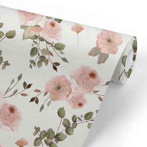 Millie's Dusty Rose Garden Removable Wallpaper
