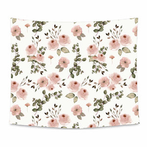 Millie's Dusty Rose Garden Printed Wall Tapestry