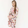 autumn's rustic real floral maternity robe