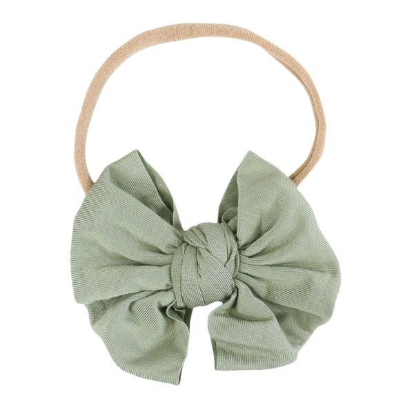 Solid Moss Knit Bow Headband