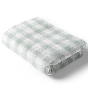 moss gingham bedding collection
