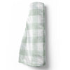 moss gingham soft minky baby toddler throw blanket