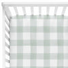 Moss Gingham Baby Bedding