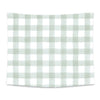Moss Gingham Printed Wall Tapestry