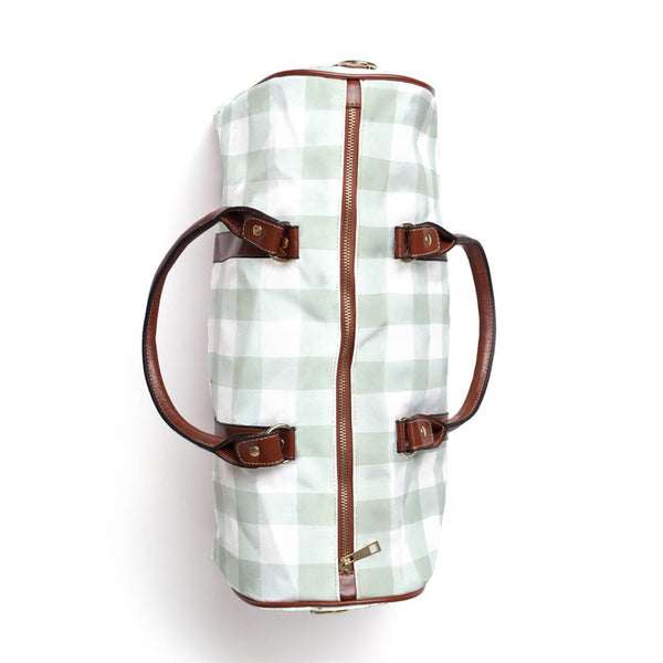 Moss Gingham Overnight Bag