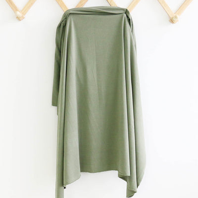 Solid Moss Knit Swaddle Blanket