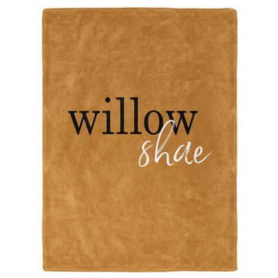 Mustard Color Story Personalized Name Soft Fleece Toddler Throw Blanket