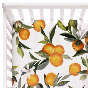oranges crib sheet nursery