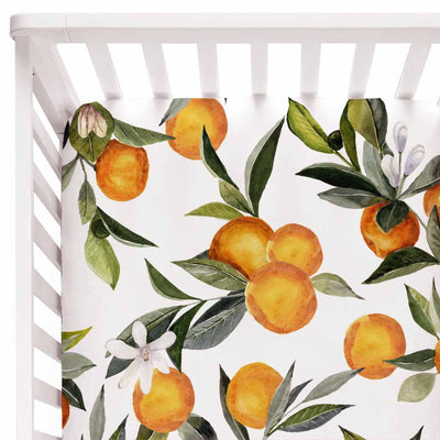 Orange Blossoms Baby Bedding