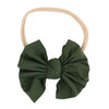 Solid Olive Knit Bow Headband